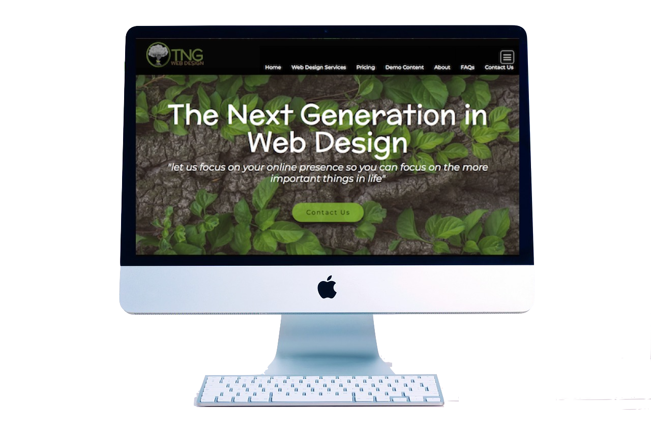 Quality Website Design Desktop Demo for TNG Web Design